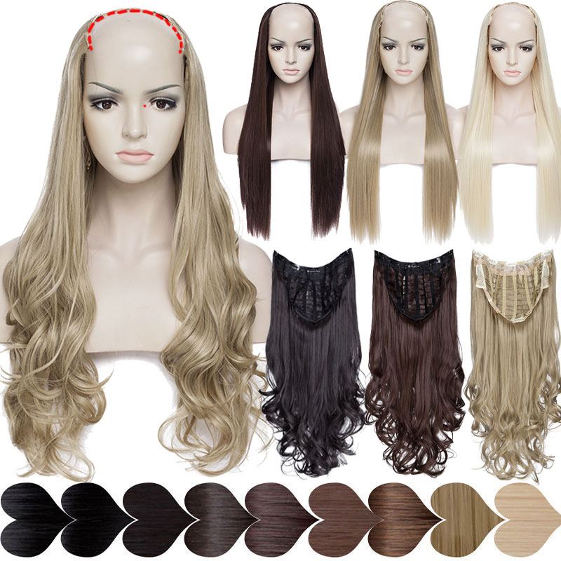 Enthusiastic Snoilite Upgrade Clip In Hair Extension U Part Extension Hair Synthetic Natural Hair Clip Ins Clip In Half Wig Brown Blonde Relieving Rheumatism