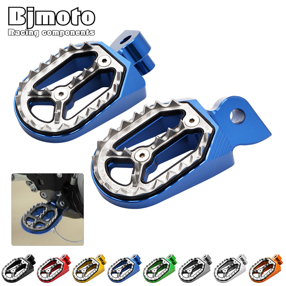 цена на FP-204 Pair CNC Dirt Bike Foot Pegs Footrest Shark Teeth For For YAMAHA YZ85/125/250 1999-2015 YZ/WR250F 1999-2015 YZ450F 04-15