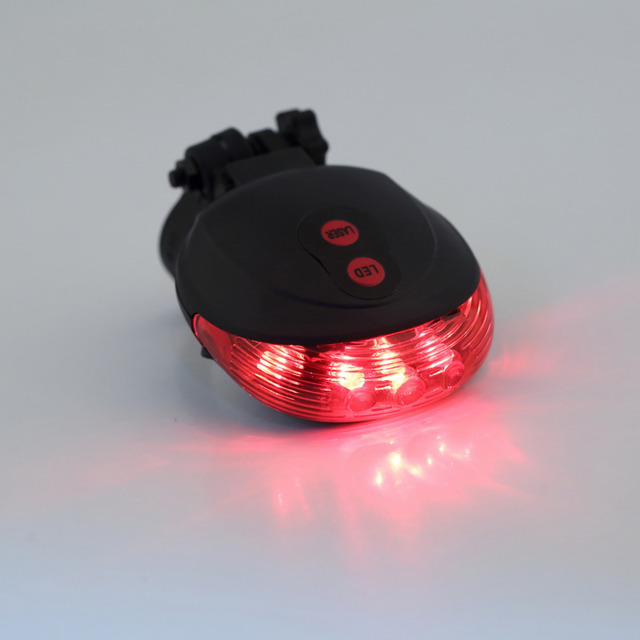 (5LED+2Laser) Bicycle Rear Light Laser Tail Bike Light Cycling Safety Warning Bicycle Accessories free shipping
