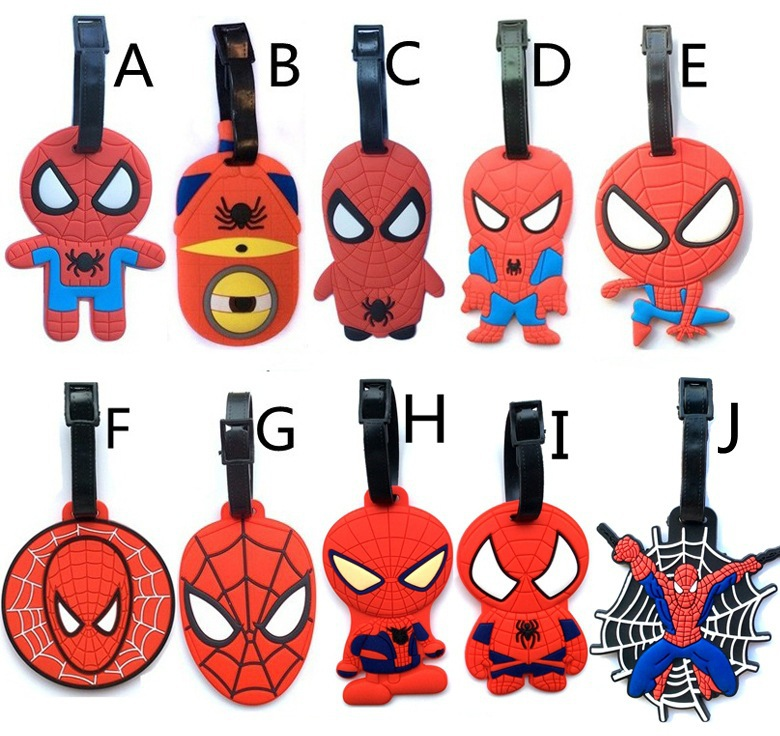 Travel Accessories Cooperative 2018 Limited Maletas Anime Diffuse Wei Spider-man Spiderman Mask Luggage Check Tags Hang Act The Role Of High-quality Goods Strengthening Waist And Sinews Luggage & Bags