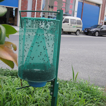 Health 1PCS Pest Control Reusable Hanging Fly Catcher Killer Flies Flytrap Zapper Cage Net Trap Garden Home Yard Supplies