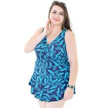 One Piece Swimsuit Sexy Swimwear Women Bathing Monokini Plus Size Print Flowers 2018 Plus Size Dress Swimming Suit for Women 6XL