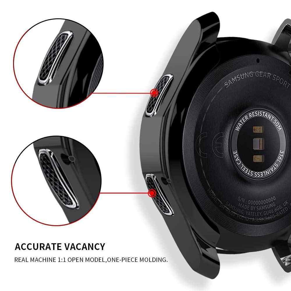 Pokrowiec na zegarek Samsung Galaxy 46mm 42mm Gear S3 frontier inteligentny zegarek akcesoria platerowane zderzak biegów S 3 42 46 MM osłona ochraniacza