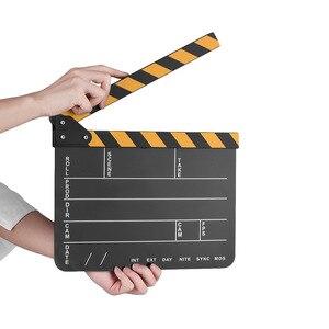 Studio Video Recording Accessories Film Clapboard Movie Film Cut Board Erase Acrylic Director TV Cut Action Scene Clapper Board