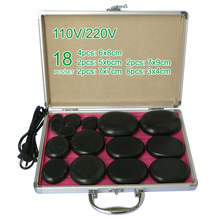 NEW wholesale & retail electrical heating 110/200V SPA hot energy stone 18pcs/set with heat box (model2+2+2+4+8) massage stone box massageador beauty stone new wholesale electrical heating 220v spa hot energy stone 22pcs set with heat box