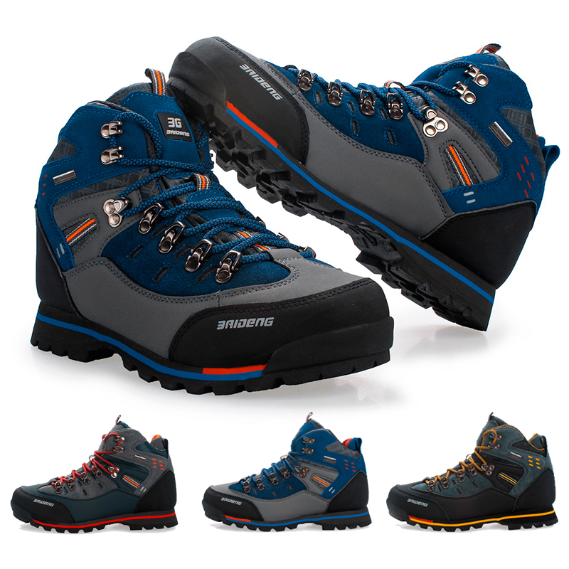 Men Breathable Outdoor Hiking Shoes Camping Mountain Climbing Hiking Boots Men Waterproof Sport Fishing Boots Trekking Sneakers man hiking shoes men outdoor camping tactical boots designer snow waterproof sport climbing mountain hunting trekking sneakers