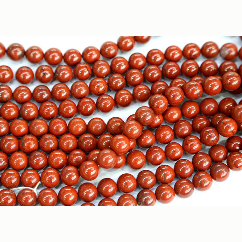 Discount Wholesale Natural Genuine Red Jasper Round Loose Stone Beads 3-18mm Fit Jewelry DIY Necklaces or Bracelets 15