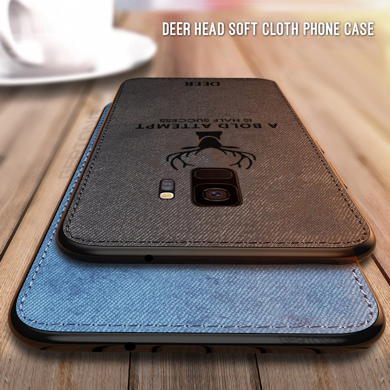 Luxury <font><b>Cloth</b></font> Back <font><b>Case</b></font> For <font><b>Samsung</b></font> Galaxy S9 S8 Plus Note 9 8 <font><b>A8</b></font> A6 J6 J4 Plus <font><b>2018</b></font> J3 J5 J7 Pro 2017 Non-slip Phone Cover image