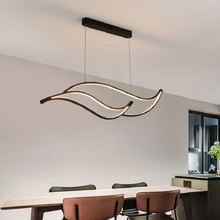 Modern led pendant light black white Aluminum lights foe dining room living room lighting home Kitchen restaurant pendant lamp modern aluminum iron metal pendant lights gold silver black white nordic designer plated ring pendant lamp for home room pll 769