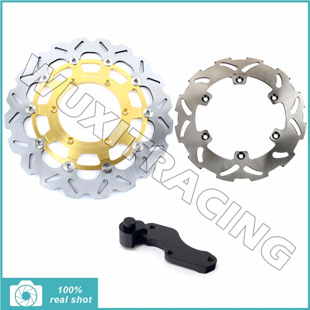 Oversize 320MM Front Rear Brake Disc Rotor Bracket Adaptor for SUZUKI RM125 RM250 96-99 DRZ400S DRZ400E 00-09 01 02 03 04 05 06 fit for rm 125 00 09 rm250 00 01 02 03 04 05 06 07 08 09 10 11 12 front rear brake disc rotor bracket bracket oversize 320mm