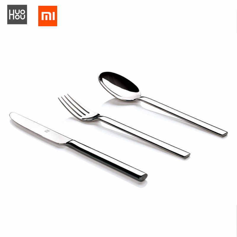 Original Xiaomi Mijia Huohou Steak Knives Spoon Fork Stainless Steel Dinner Dinnerware Household Cutlery For Family Friends Gift