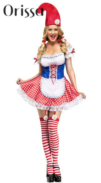 Hot Sale Womenu0027s Sexy Garden Gnome Costume carnival Party cosplay fantasia halloween costumes for women-in Sexy Costumes from Novelty u0026 Special Use on ...  sc 1 st  AliExpress.com & Hot Sale Womenu0027s Sexy Garden Gnome Costume carnival Party cosplay ...