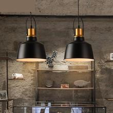 warehouse 1 pcs Black iron pendant lights for Cafe Pizza shop hanging Light Bar sconce Balcony