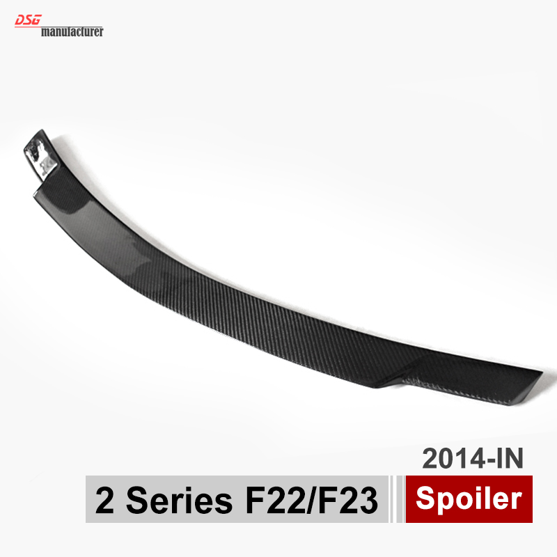 F22 F23 F87 M2 Carbon Fiber Rear Spoiler for BMW 2 Series 218i 220i 225d 228i M235i yandex w205 amg style carbon fiber rear spoiler for benz w205 c200 c250 c300 c350 4door 2015 2016 2017