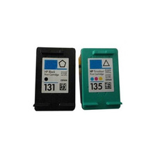 2Pcs High Quality Black &Color For HP 131 135 Compatible Ink Cartridges Photosmart 2710 2610 325 PSC 2355 DJ6840 5740
