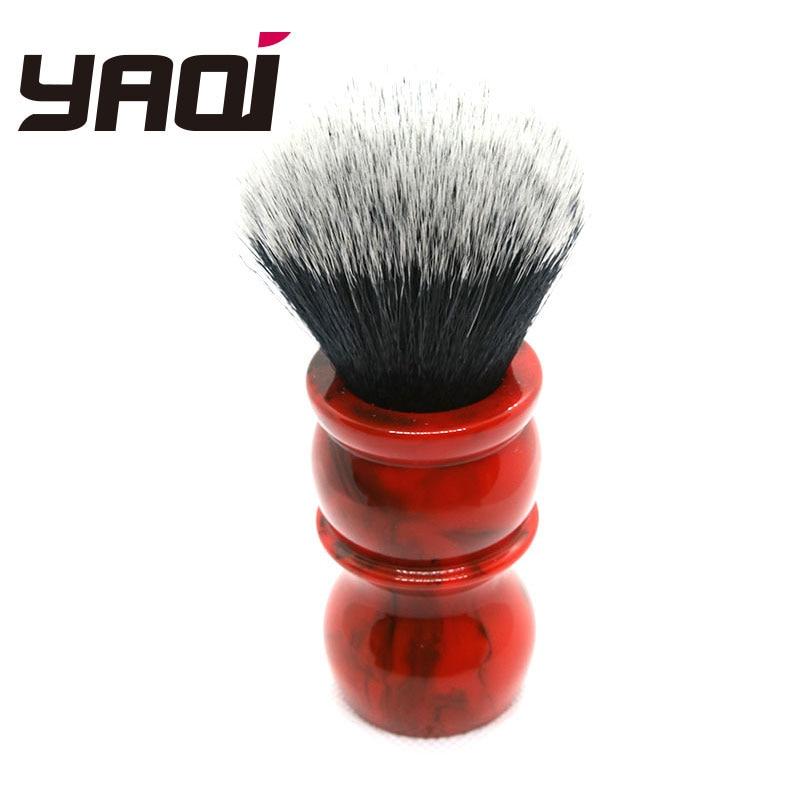 Yaqi Red Marble 24MM Men's Synthetic Hair Beard Brush Shaving Brush