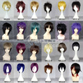Full Lace Human Wigs Women Men Short Hair With Bang Parted In The Middle Cosplay Wig Hinata Hajime/Nanase Haruka/Yoichi Saotome