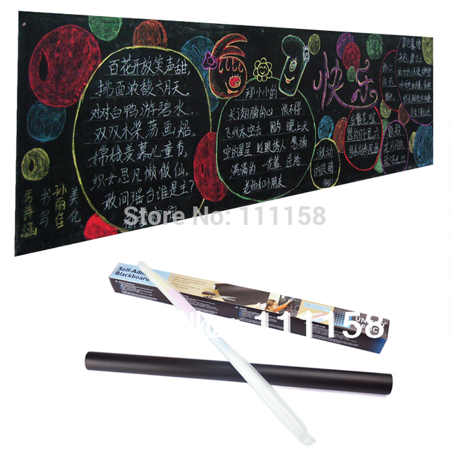 100 pcs 45*200cm removable vinyl chalkboard wall stickers, mini pvc