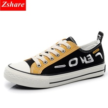 2019 fashion mixed colors canvas shoes women vulcanized basket femme sneakers womens lace-up casual woman flat