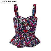 JYConline Floral Bustier Crop Top Summer Women Tank Top Short Vest Sexy Camis Women Tops Cropped Feminino Ruffles Bralette Bra