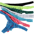 7PCS/Lot Brand Men Lace Thong Sexy Jock Straps Underwear Male Super Sexy Sheer Thongs G Strings Mens T-back Underpants S-XL