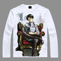 Algodón caliente anime manga completa de la camiseta anime manga larga camiseta ataque on titan patrones de manga larga camiseta AC66