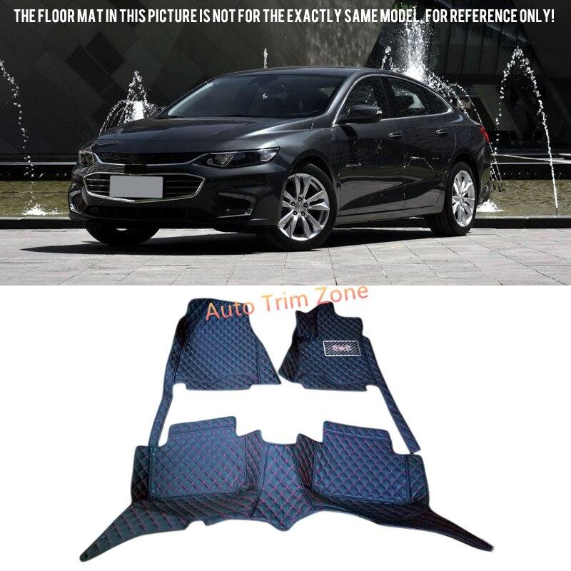 Черный кожаный салон пол Коврики и Ковры для Chevrolet Malibu Malibu XL  2016-2017 92198ec05c8