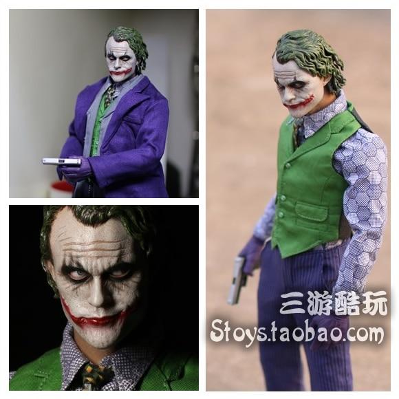 "1:6 scale Male figure doll Heath Ledger The Dark Knight JOKER Anime Movable 12/"""