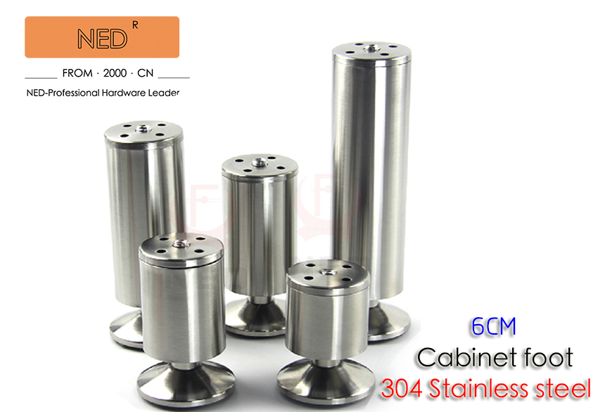 4PCS Brand NED 6CM 304 Stainless Steel Furniture Legs Cabinet TV Metal Foot  Sofa Bed Table 60MM Height Feet With Screws In Furniture Legs From Furniture  On ...