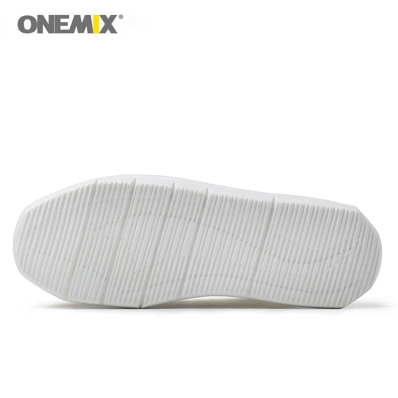 Onemix di lavoro a maglia calzino della caviglia stivali di alta altezza crescente di vita scarpe da passeggio per le donne scarpe da ginnastica femminile tenere in caldo slip on - 3