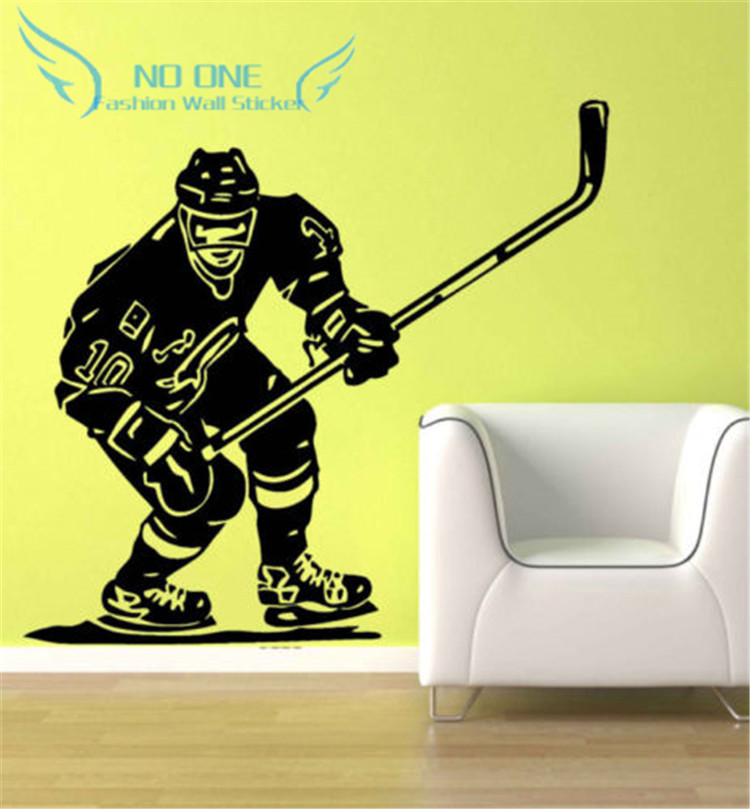 Ice Hockey Player NHL Sport Boy Room Mural Decor Wall Art Vinyl Decal Sticker free shipping image