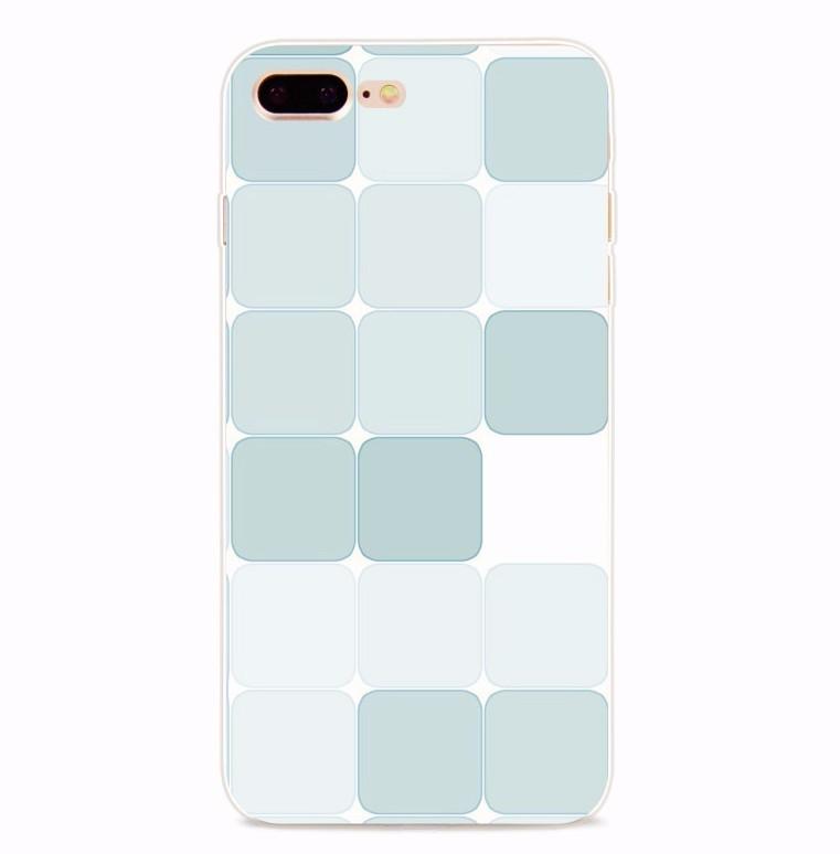 Чехол силиконовый с индивидуальным дизайном «Квадраты» для iPhone