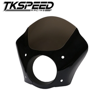 FREE SHIPPING Black Gauntlet Headlight Fairing W Trigger Lock Mount Kit For Harley XL 1200 883
