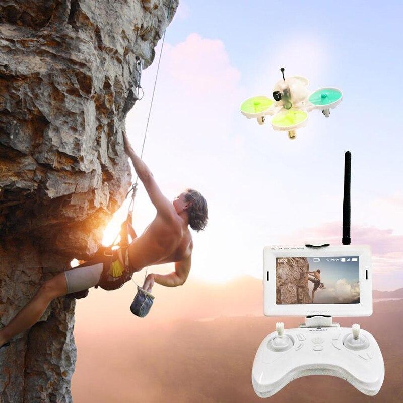 מיני Drone מצלמה RC מסוק אחיזת גובה Quadcopter עם גלוי צג שליטה 6 ציר גירוסקופ