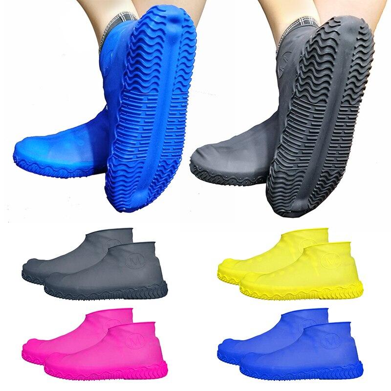 Silicone Overshoes Reusable Waterproof Rainproof Men Shoes Covers Rain Boots Non-slip Washable Unisex Wear-Resistant Recyclable