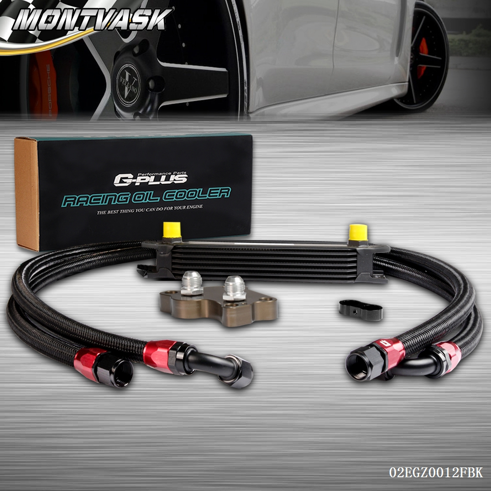 7 Row Engine Oil Cooler Relocation Kit For Bmw Mini Cooper S Supercharger R53 ...