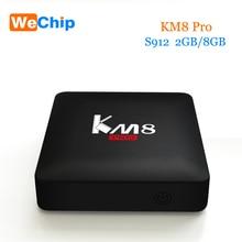 KM8 Pro Amlogic S912 Android 6.0 TV Box Octa core 2 ГБ 8 ГБ 2.4 г/5 г Wi-Fi Коди 17.0 IPTV Европа Smart TV Box Media Player