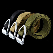 Военный тактический ремень, открытый ткацкий ремень, мужской армейский нейлоновый ремень SWAT с металлической пряжкой, Прямая поставка, пояс для поддержки талии