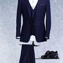 Bridalaffair Mens trajes Slim Fit (chaqueta + chaleco + Pantalones) conjunto  moderno últimos diseños de los pantalones de la cap. f281c458a7c