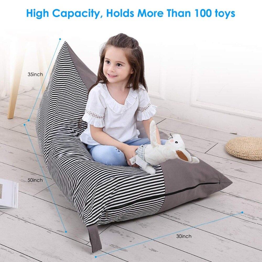 Чучело кресло мешок дети органайзер для хранения игрушек Stuffie сиденье, складной пол стул диван игрушка для хранения кресло