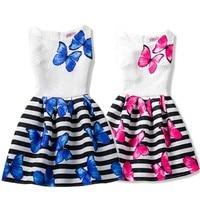 Children Summer Girls Dress Butterfly Floral Print Princess Teenagers Dress For Girls Party Kids children dress Vestido 6-12Y