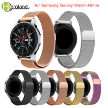 new 22MM Replacement  For Samsung Galaxy Watch 46MM milanese loop stainless steel strap wrist magnet closure quick release pins