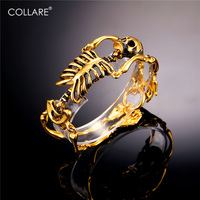Bracelet Men Punk Skeleton Link Stainless Steel Men Bracelet 18K Gold Plated Bracelet For Men Rock