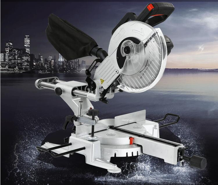 10 inch miter saw multi function lever saw table 45 degree high precision aluminum alloy wood