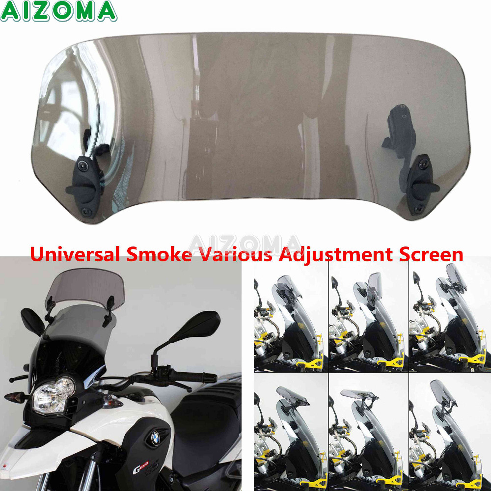 Universal Motorcycle Adjustable Screen Windscreen Windshield Extension Spoiler Air Deflector For Ducati BMW K1300S Touirng