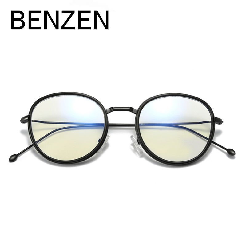 BENZEN Vintage Round Eyeglasses Frame Women Anti Blue Rays Computer Glasses Alloy Reading Glasses Eyewear Glasses Frame 5092