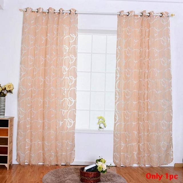hot verkoop romantisch gordijn cirkel bubble cut bloemen venster screening verse woondecoratie leveringen