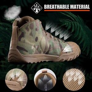 Image 3 - 무료 군인 야외 스포츠 전술 군사 남성 신발 캠핑, 하이킹 등산 신발 경량 트레킹