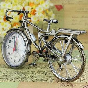 Vintage Bike Shape Alarm Clock Fun Bicycle Clock Ornaments for Home Decor UD88