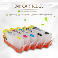 For HP 364 Refillable Ink Cartridges for HP Photosmart B109n B209a C410b B211b C510a C/M/Y/K/K with ARC chips 5 colors
